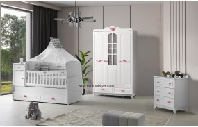 Prenses Camlı Bebek Odası Takımı