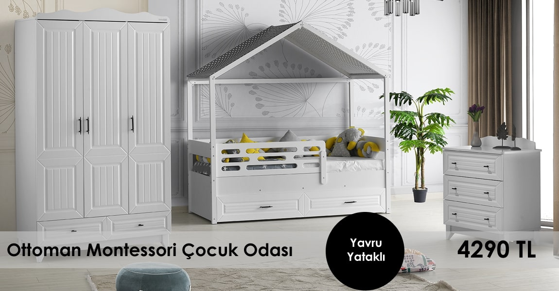 Ottoman Montessori Çocuk Odası Takımı