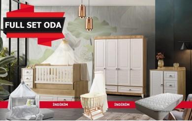 Esla 4 Kapılı Bebek Odası Full Set