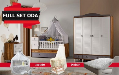 Montero 4 Kapılı Bebek Odası Full Set